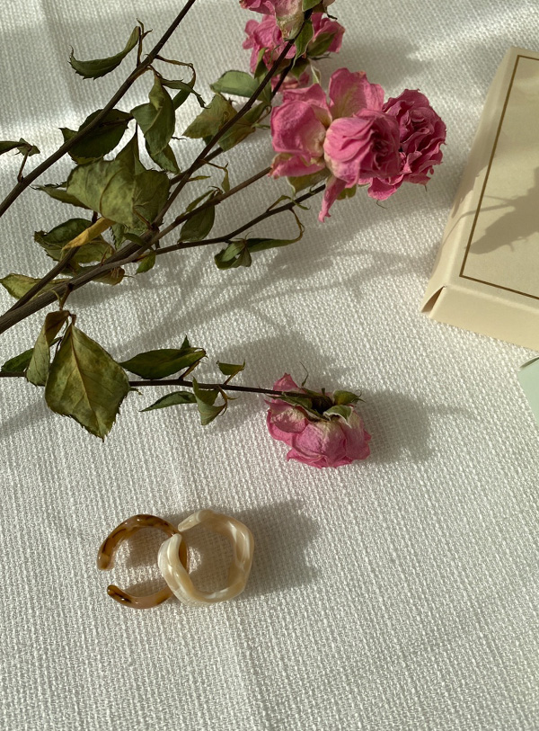 Pure wave ring (*2color)