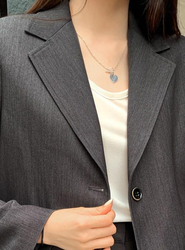 [Silver 92.5] Silver Heart Necklace