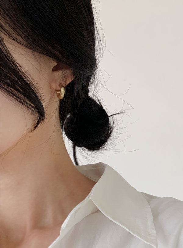 Comb tooth ring earring (*2color)