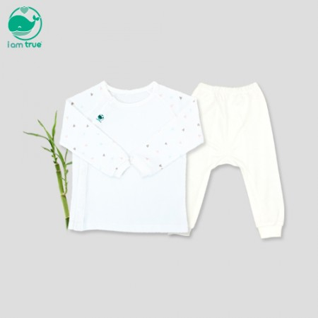"<span style=""color:#1da4d9"">Im true</span> bamboo 100%<br> <span style=""color:#1da4d9"">White Pure</span> Long-sleeve Underwear"