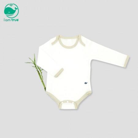 "<span style=""color:#1da4d9"">Im true natural antibacterial</span> bamboo<br> <span style=""color:#1da4d9"">White Pure</span> Bodysuit"