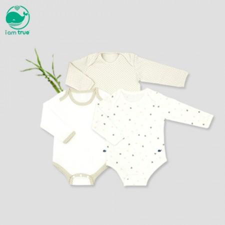 "<span style=""color:#1da4d9;"">I M True<br> Natural antibacterial</span><br> Organic & Bamboo Bodysuit 2 Pack"