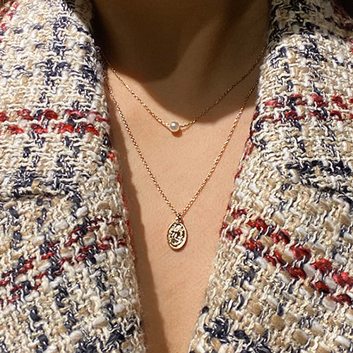 (2set)硬币&珍珠项链