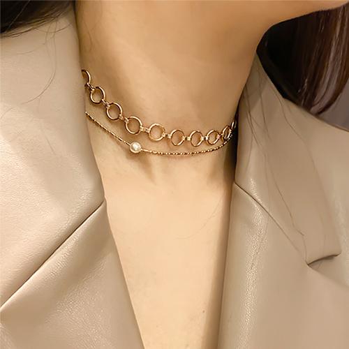 (2set)配珍珠项链