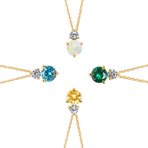 [Birthstone] Twinkle Moment Necklace