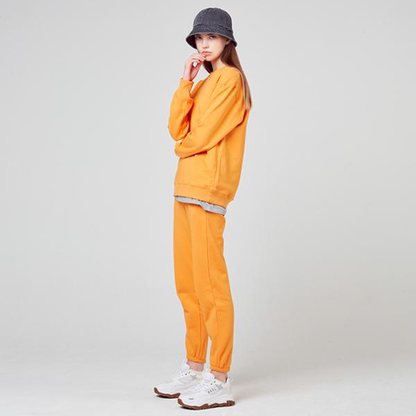 今年デーベーシック<br>マンツーマンジョガーパンツセット<br>ライトオレンジ(男女共用)