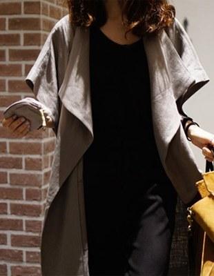 Her linen long vest - 2c