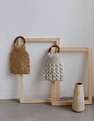 Fringe Wood Ring Bag - 2c