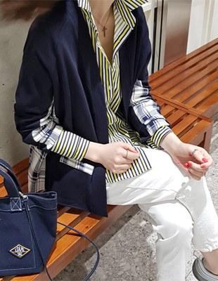 Checkered cardigan - 2c