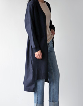 Wise Color Long Cardigan Coat