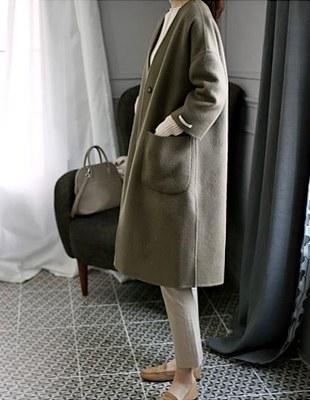 SANDRO handmade Alpaca(40%) coat  - warm and classy