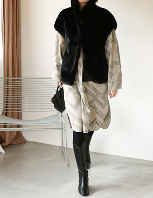high-quality mink vest