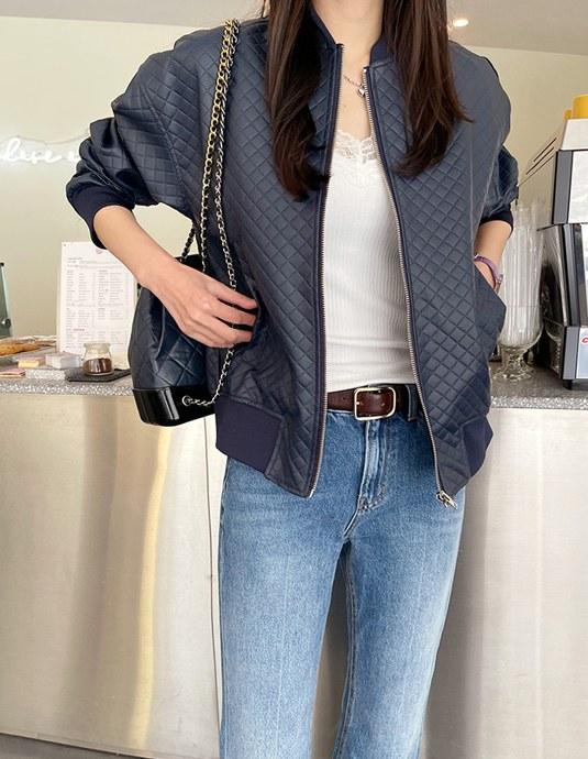 embossed leather jacket