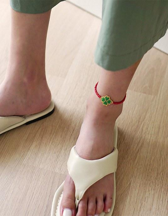 Clover Anklet