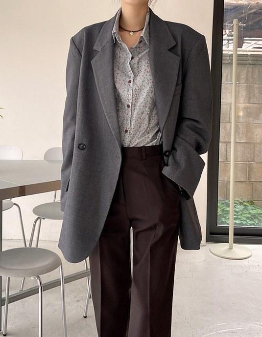 Aleck Double Boyfit Jacket