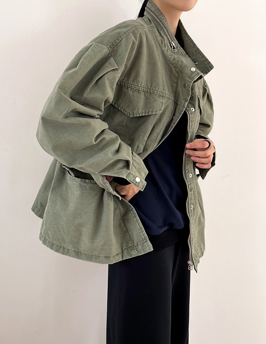 Loose-fit Puff Field Jacket
