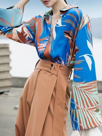 S9001レスリックワイドカフスシルキーシャツ韓国