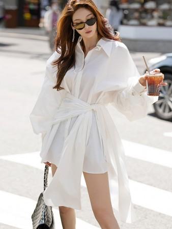 S9009 ワイドカバーラップタイコットンシャツ(3rd REORDER)韓国