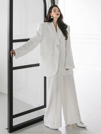 TP9057 ゴールドボタンオーバーフィットパッドシングルジャケットスーツ*セット 5%*韓国
