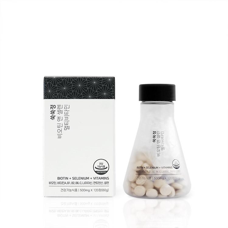 【抜け毛ケア】 すくすく錠 ビオチン&セレニウム マルチビタミン 60日分