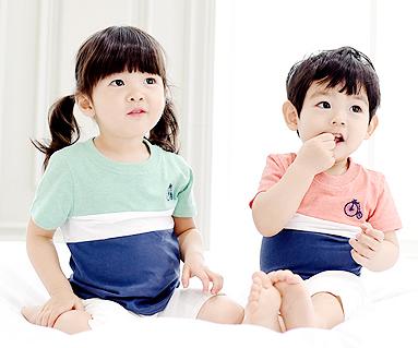トリニティ円形の赤ちゃんショートTシャツ_15B04