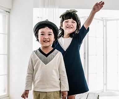 ビクトリアファミリー赤ちゃん長袖_16C05