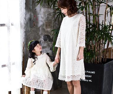 ロマンチックロイヤル母親と赤ちゃん長袖_17A11