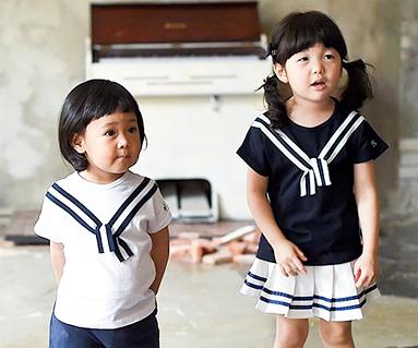 ツーウェー赤ちゃんショートTシャツ_16B24K