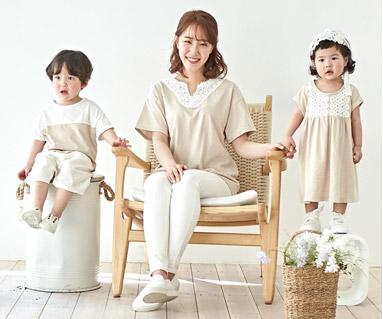 """<font color=""""ffffff"""">[家族ショートTシャツティー&ファミリールック] <br></font>シャインママと赤ちゃんショートTシャツ_19B05"""