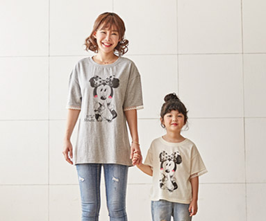 "<font color=""ffffff"">[家族ショートTシャツティー&ファミリールック] <br></font>プチミッキーママと赤ちゃんショートTシャツ_18B22"