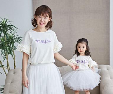 """<font color=""""ffffff"""">[家族ショートTシャツティー&ファミリールック] <br></font>ローリーポリママと赤ちゃんショートTシャツ_18B17"""