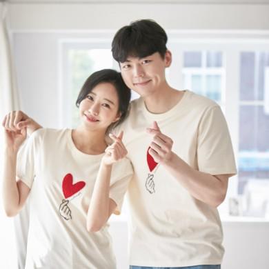 大好きショートTシャツ男女共用21B01A /ファミリールック、家族の写真の衣装