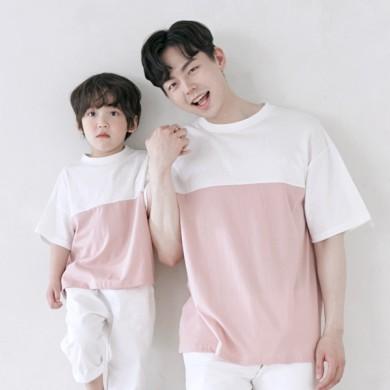 アリシアショートTシャツパパと赤ちゃん21B11MK /ファミリールック、家族の写真の衣装