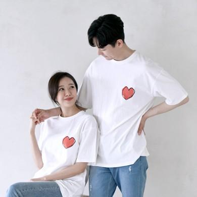 マイハートショートTシャツ男女共用21B09A /ファミリールック、家族の写真の衣装