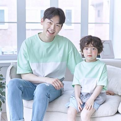 甘酸っぱくショートTシャツパパと赤ちゃん21B10MK /ファミリールック、家族の写真の衣装