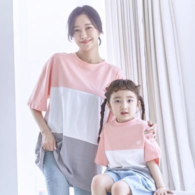 甘酸っぱくショートTシャツママと赤ちゃん21B10WK /ファミリールック、家族の写真の衣装