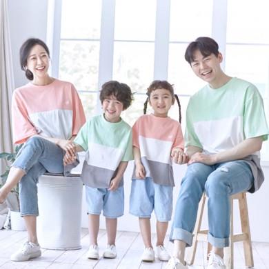 甘酸っぱくショートTシャツ家族21B10 /家族ルック、家族の写真の衣装