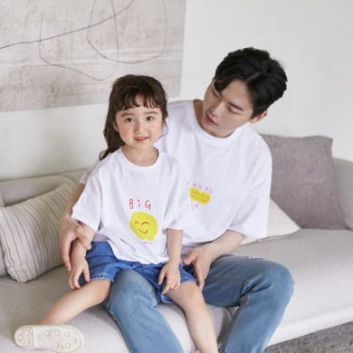 笑いショートTシャツパパと赤ちゃん21B07MK /ファミリールック、家族の写真の衣装