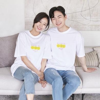 笑いショートTシャツ男女共用21B07A /ファミリールック、家族の写真の衣装