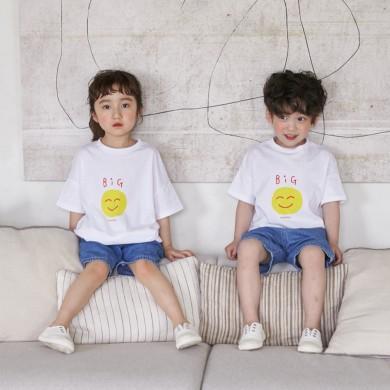 笑いショートTシャツ子供21B07K /ファミリールック、家族の写真の衣装