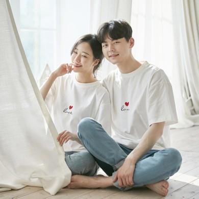 愛パンパンショートTシャツ男女共用21B05A /ファミリールック、家族の写真の衣装