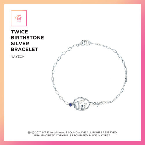 TWICE(トワイス) -  TWICE JEWELRY COLLECTION LIMITED EDITION [BIRTHSTONE SILVER BRACELET  -  NAYEON]