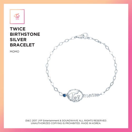 TWICE(トワイス) -  TWICE JEWELRY COLLECTION LIMITED EDITION [BIRTHSTONE SILVER BRACELET  -  MOMO]