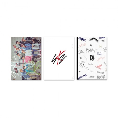 Stray Kids(ストレイキッド) -  2018 OFFICIAL GOODS [クリアファイル&ミニノートセット/ CLEAR FILE&MINI NOTE SET]
