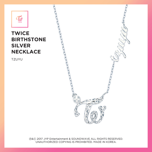 TWICE(トワイス) -  TWICE JEWELRY COLLECTION LIMITED EDITION [BIRTHSTONE SILVER NECKLACE  -  TZUYU]