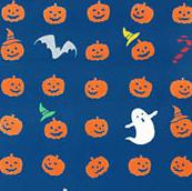 Japanese Tenugui-Halloween(No.190)