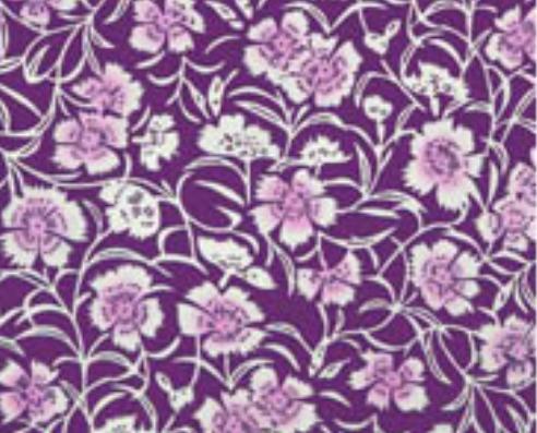 Japanese Tenugui-Parangi flowers(No.990)purple