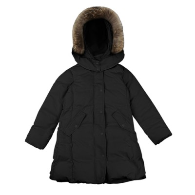 FUR GOOSE DOWN PADDING: BLACK