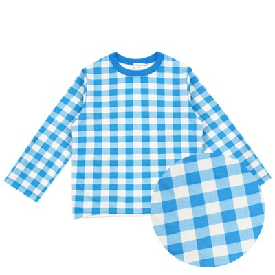 PLAY WEAR TOP: BLUE CHECK