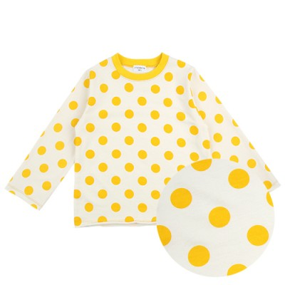 PLAY WEAR TOP: YELLOW DOT